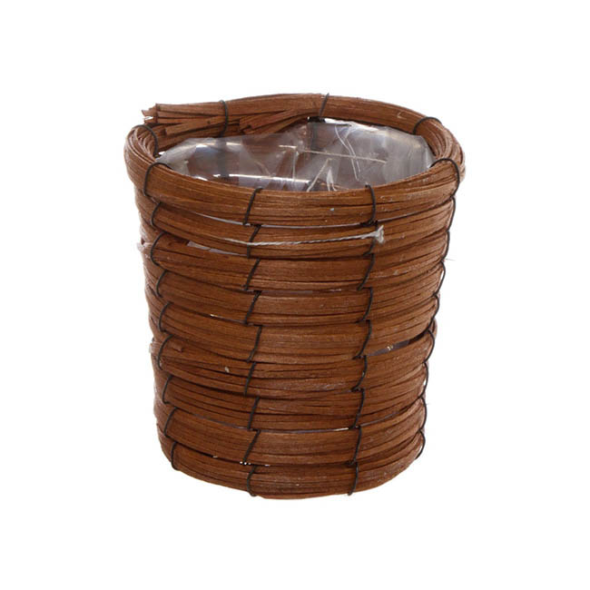 Flower Planter Pots - Planter Basket Round Brown (15.5cmDx14cmH)