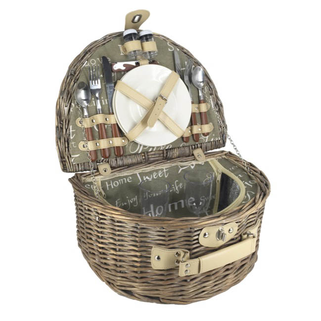 Picnic Baskets - Picnic Basket 2 Person Cutlery Natural (40x30x19cmH)