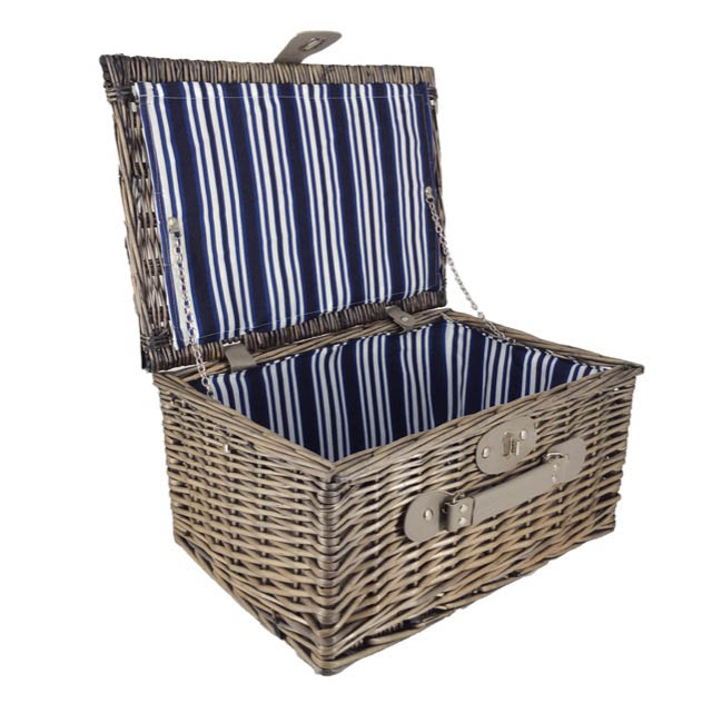 Picnic Baskets - Picnic Basket Chest Premium Full Willow Brown (40x28x18cmH)