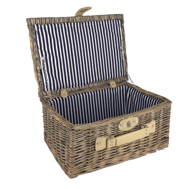 Picnic Baskets - Picnic Basket Chest Premium Full Willow Natural 40x28x18cmH