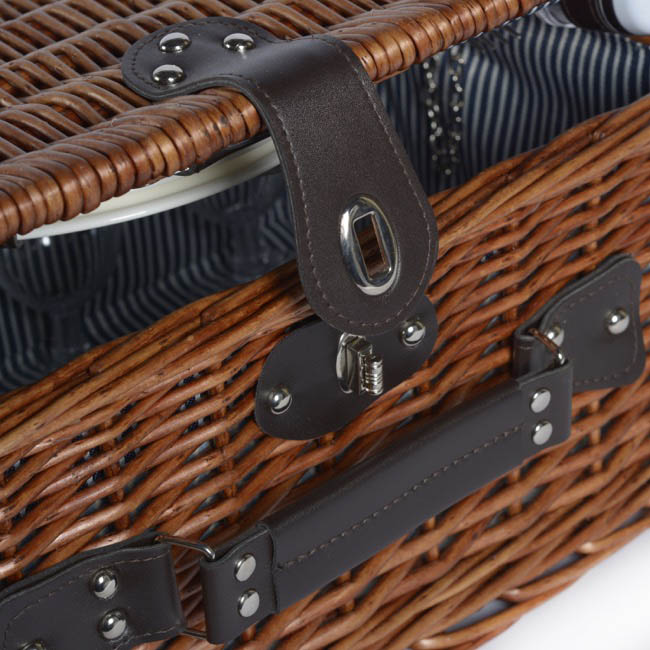 Picnic Baskets - 4 Person Premium Picnic Basket Chest Brown (44x30x20cmH)