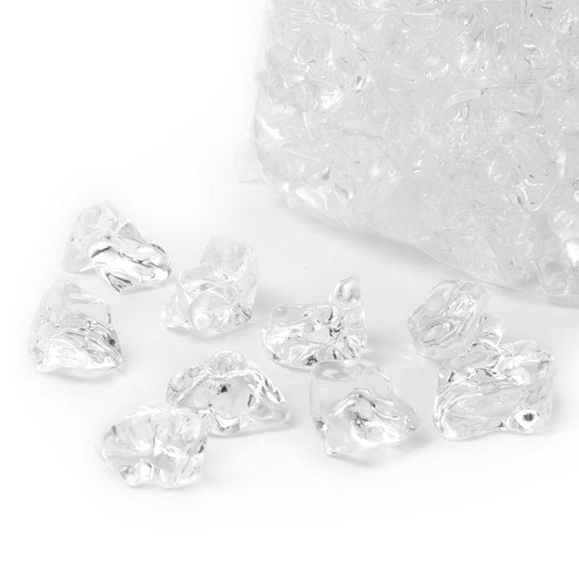 Acrylic Rock Crystals Clear Bright (18mm) 340g Bag