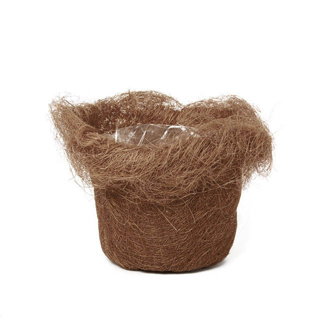 Flower Planter Pots - Planter Insert Artificial Sisal Chocolate (14x12cmH)