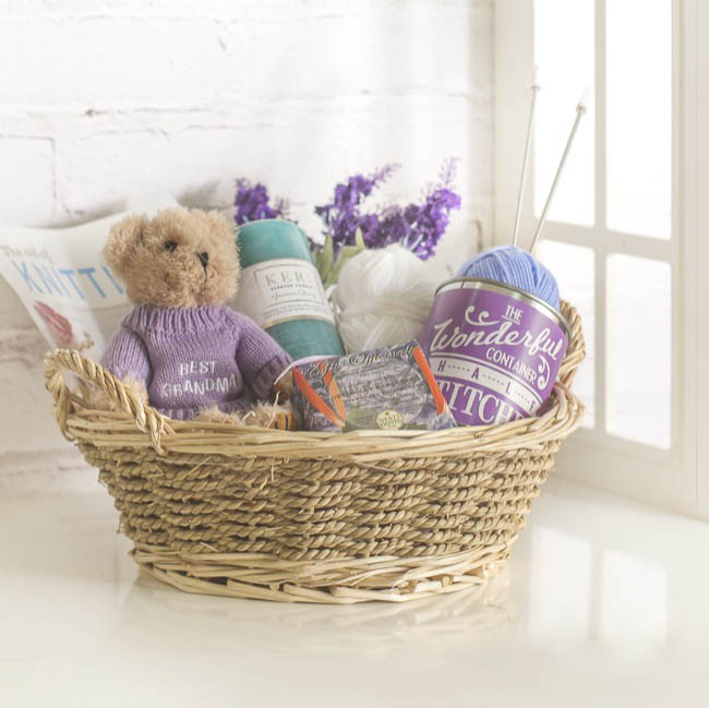 Hamper Tray & Gift Basket - Seagrass Willow Tray Round Natural (29cmDx10cmH)
