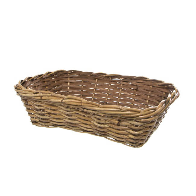 Cane Woven Hamper Tray Rectangle Natural (35.5x25.5x10cmH)