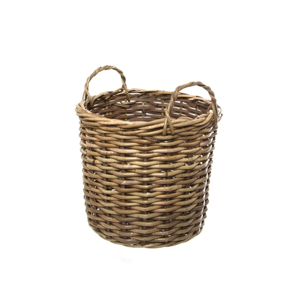 How To Weave A Cane Basket : Cane woven storage basket round set of natural dx cmh