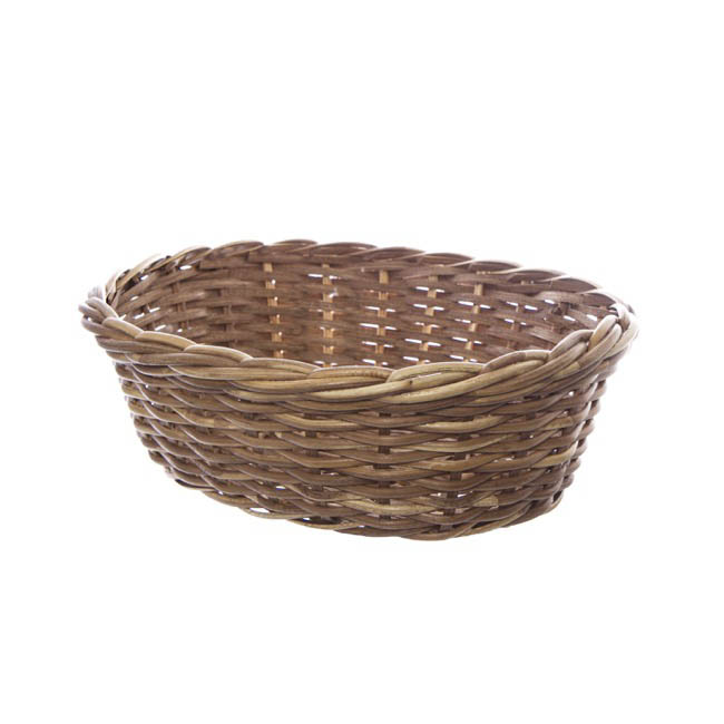 Hamper Tray & Gift Basket - Cane Woven Hamper Tray Oval Natural (39.5x34x13cmH)