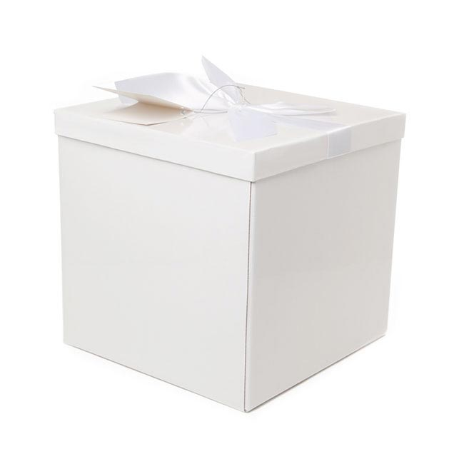 Gift Box and Lid - Flat Pack Gift Box Extra Lg Flat Pack White (255x255x250mmH)