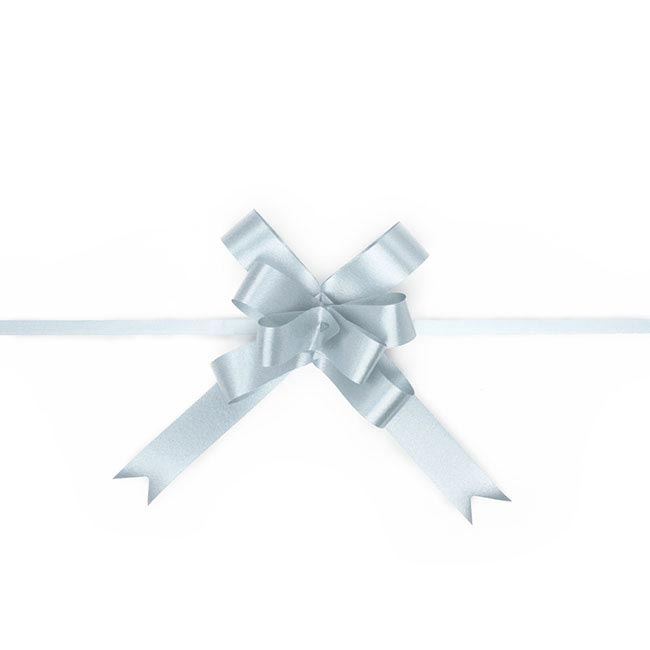Ribbon Pull Bow 25 Pack Baby Blue (18mmx53cm)