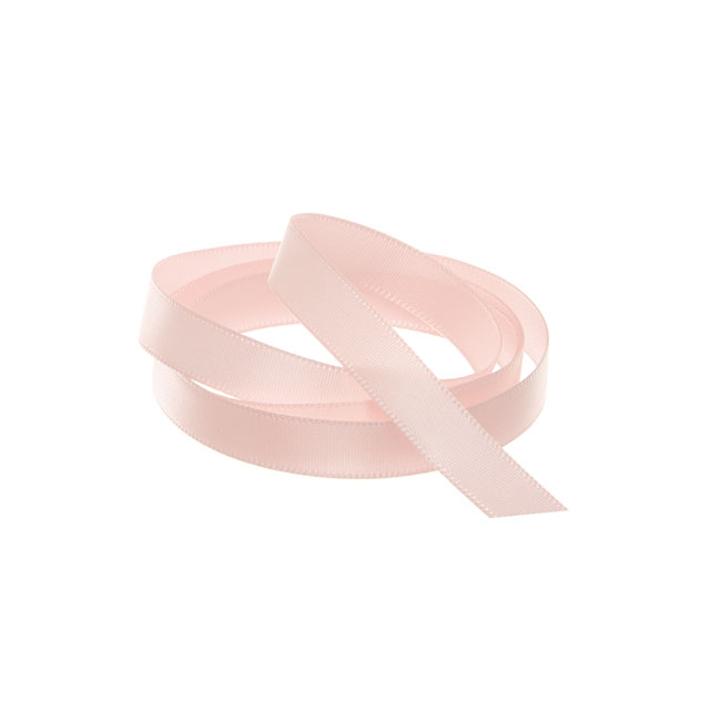 Ribbon Single Face Satin Woven Edge Baby Pink (10mmx20m)