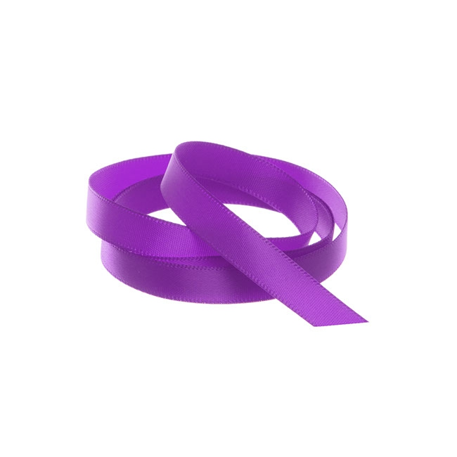 Ribbon Single Face Satin Woven Edge Purple (10mmx20m)