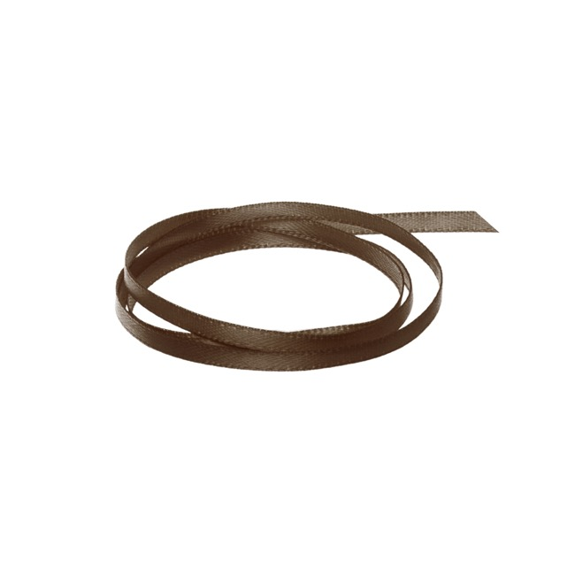 Ribbon Double Face Satin Chocolate (3mmx50m)