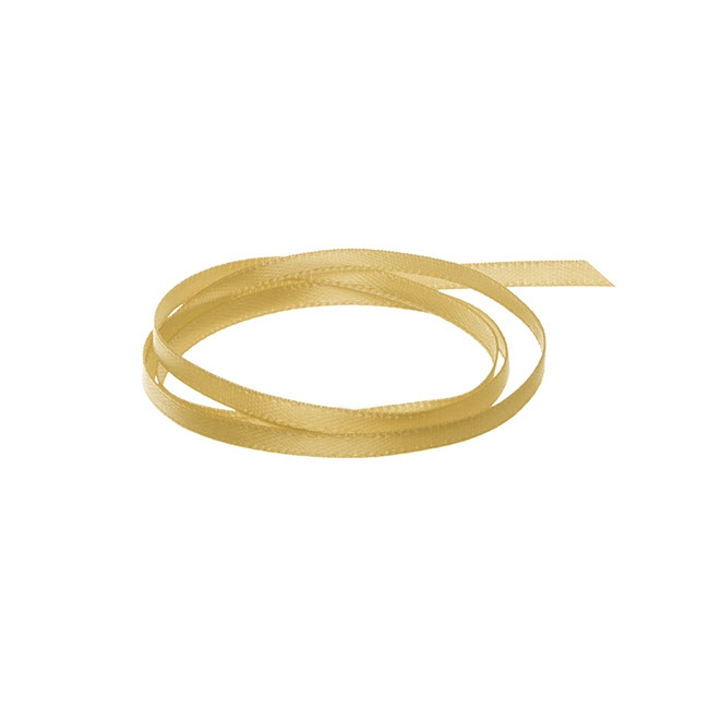 Ribbon Double Face Satin Gold (3mmx50m)