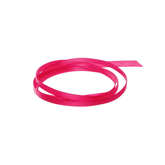 Ribbon Double Face Satin Hot Pink (3mmx50m)