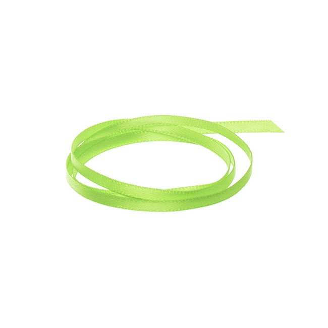 Ribbon Double Face Satin Lime (3mmx50m)