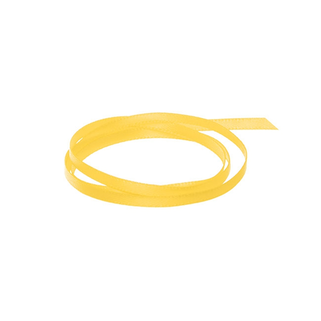 Ribbon Double Face Satin Yellow (3mmx50m)