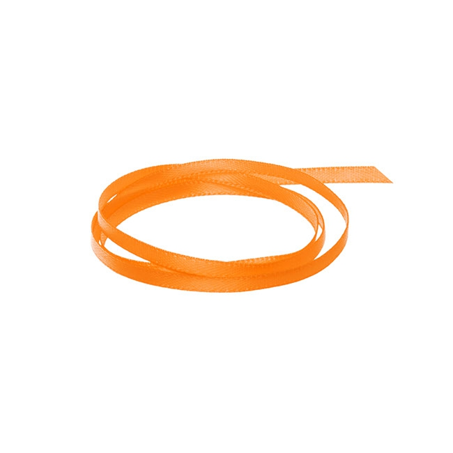 Satin Ribbons - Ribbon Satin Deluxe Double Faced Orange (3mmx50m)