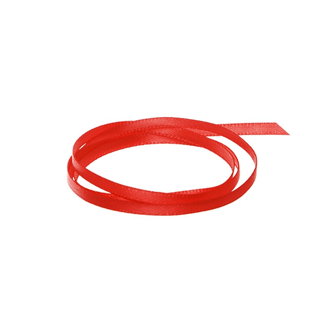 Ribbon Double Face Satin Red (3mmx50m)