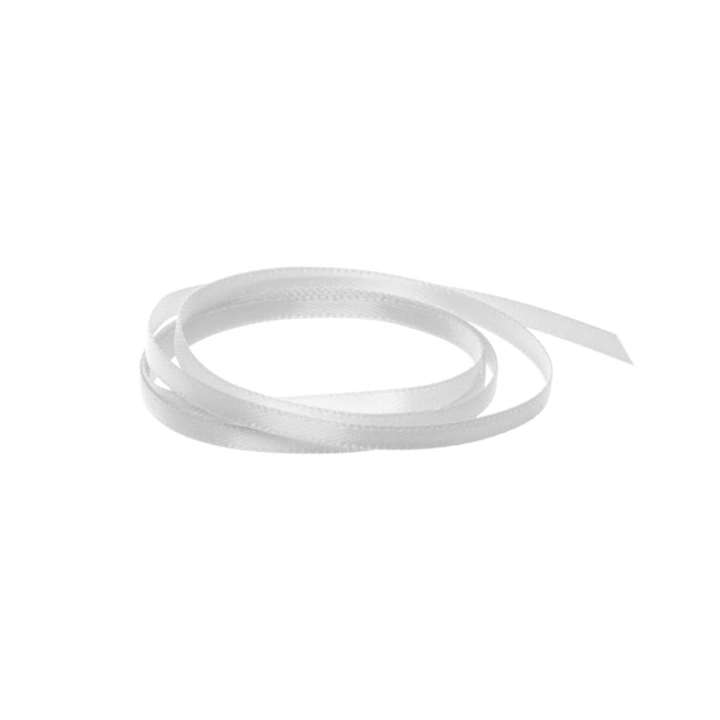 Satin Ribbons - Ribbon Satin Deluxe Double Faced Silver (3mmx50m)