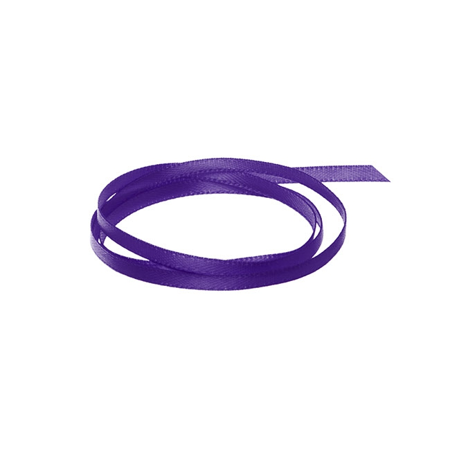 Satin Ribbons - Ribbon Satin Deluxe Double Faced Violet (3mmx50m)