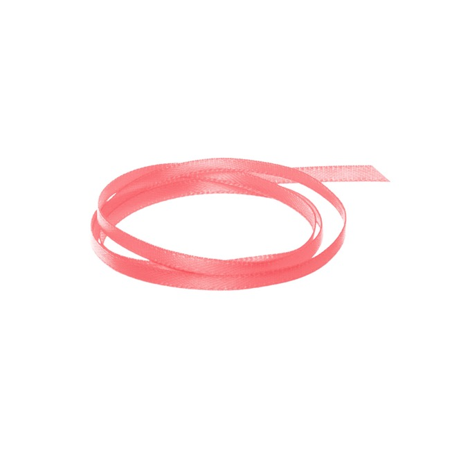 Satin Ribbons - Ribbon Satin Deluxe Double Faced Watermelon (3mmx50m)