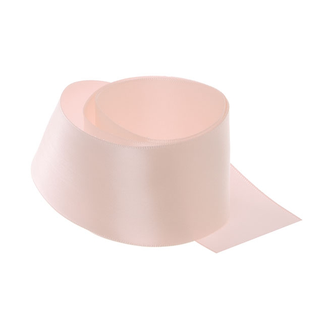 Satin Ribbons - Ribbon Single Face Satin Woven Edge Baby Pink (50mmx20m)