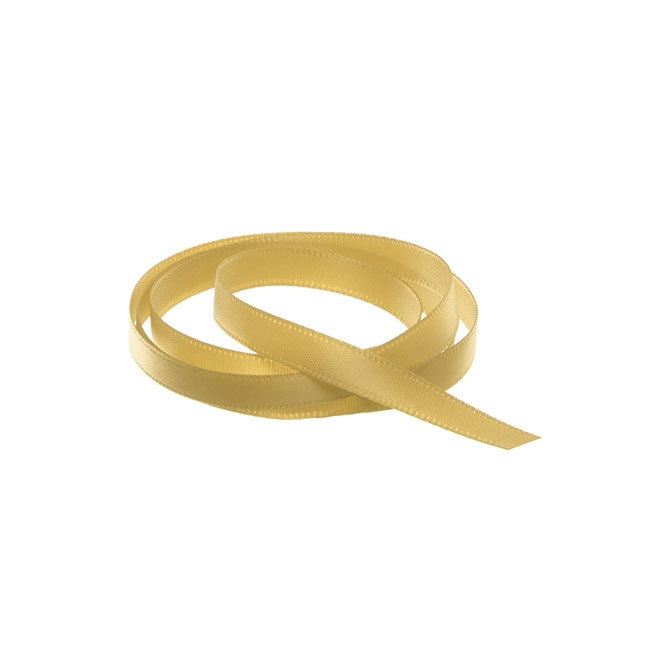 Satin Ribbons - Ribbon Single Face Satin Woven Edge Gold (6mmx20m)
