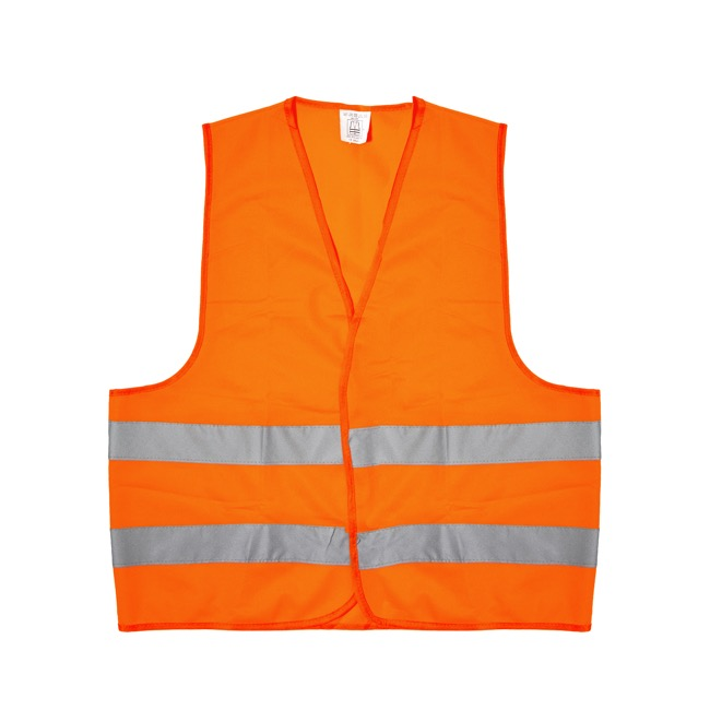 Floral Accessories - Workwear Fluorescent Safety Vest Orange (64x68cmH) Large