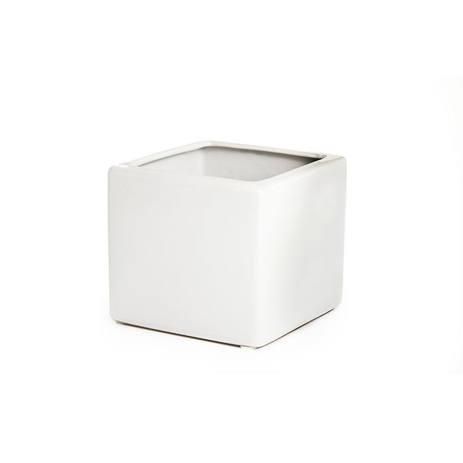 Ceramic Bondi Cube 13x13x12cmH Single White