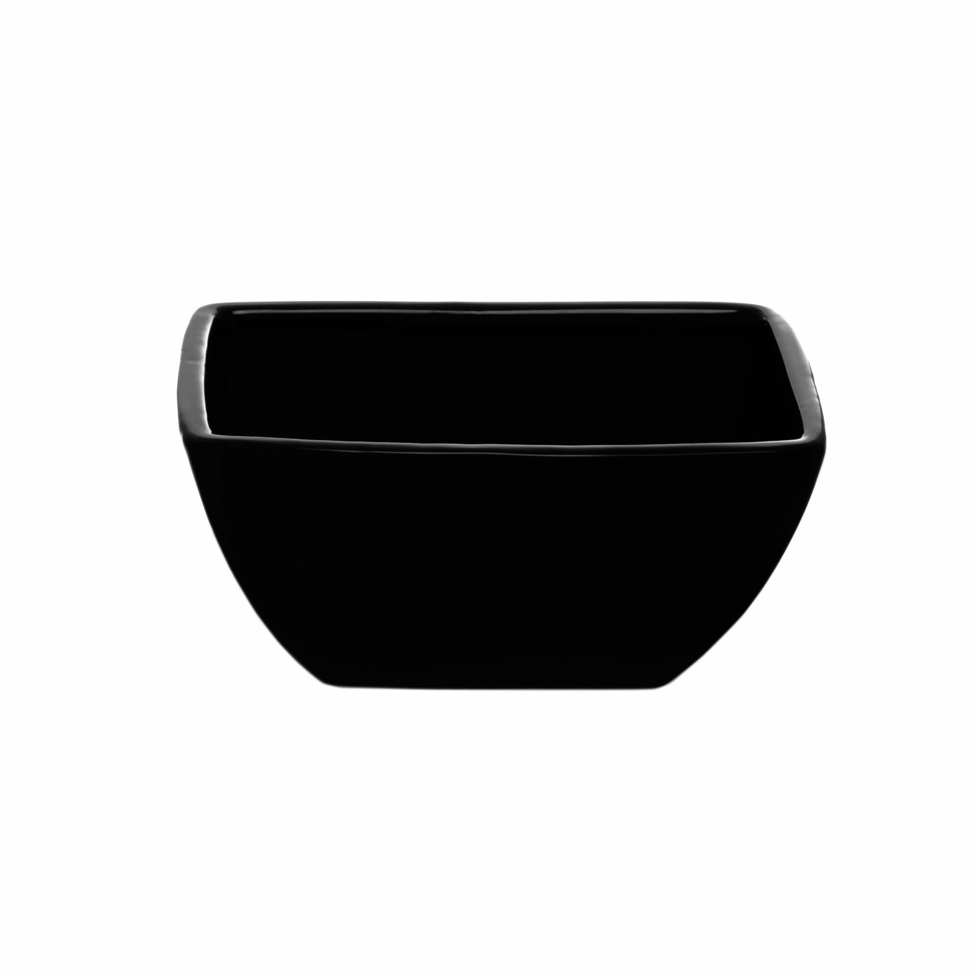 Ceramic Flora Taper Rectangle Pot 18x12x9cmH Black