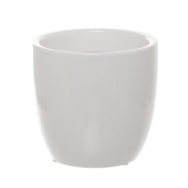 Ceramic Orchid Pot White (13cmDx13.5cmH)