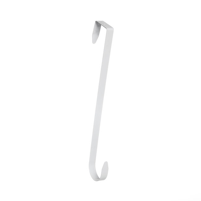 Wreath Hook Metal 33.6cmL White