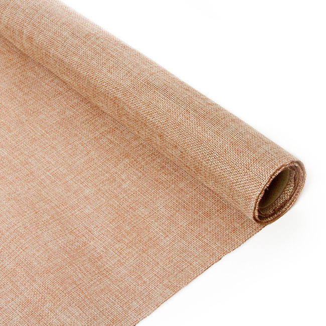 Natural Hessian Jute Wrap - Poly Flax Jute Roll Natural (50cmx5m)