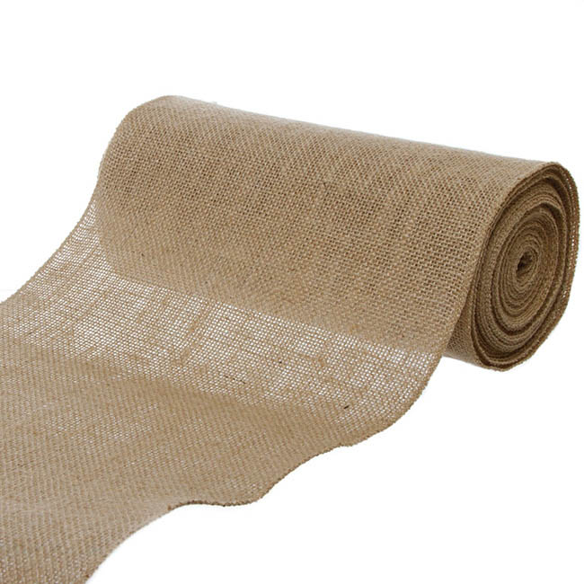 Jute Ribbons - Jute Roll Sewn Edge Natural (250mmx10m)