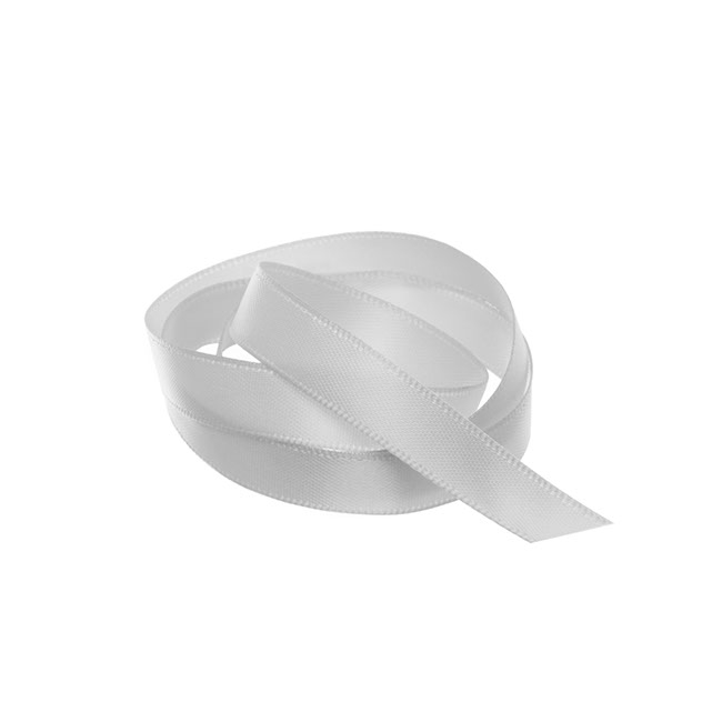 Satin Ribbons - Ribbon Satin Deluxe Double Faced Silver (10mmx25m)