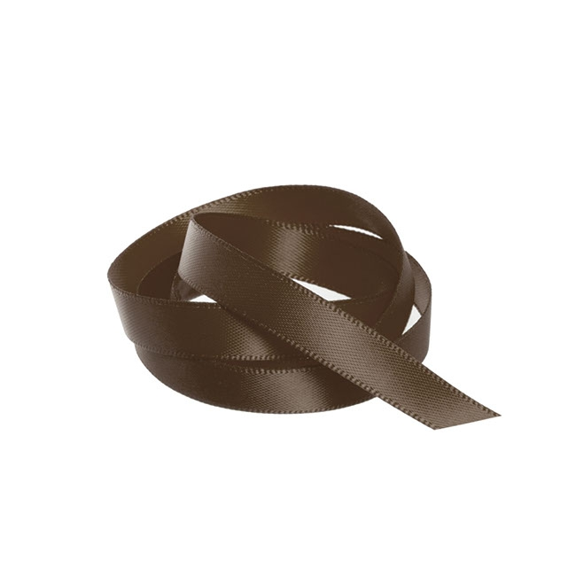 Ribbon Double Face Satin Chocolate (10mmx25m)