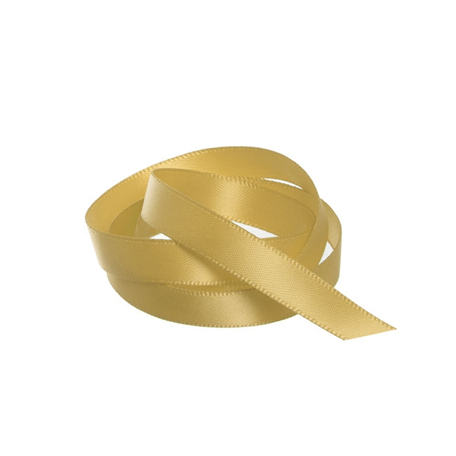 Ribbon Double Face Satin Gold (10mmx25m)