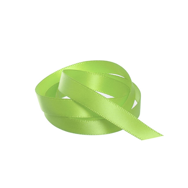 Ribbon Double Face Satin Lime (10mmx25m)