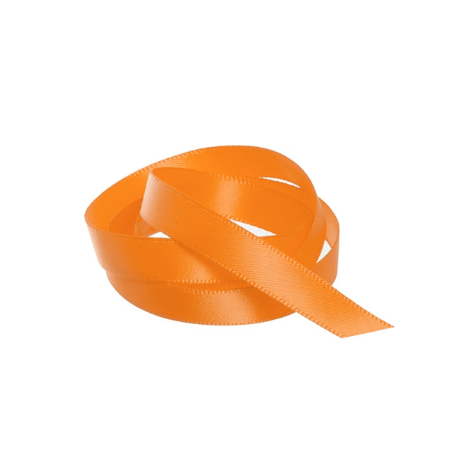 Satin Ribbons - Ribbon Satin Deluxe Double Faced Orange (10mmx25m)
