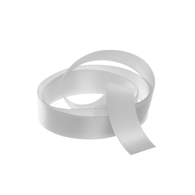Ribbon Double Face Satin Silver (15mmx25m)