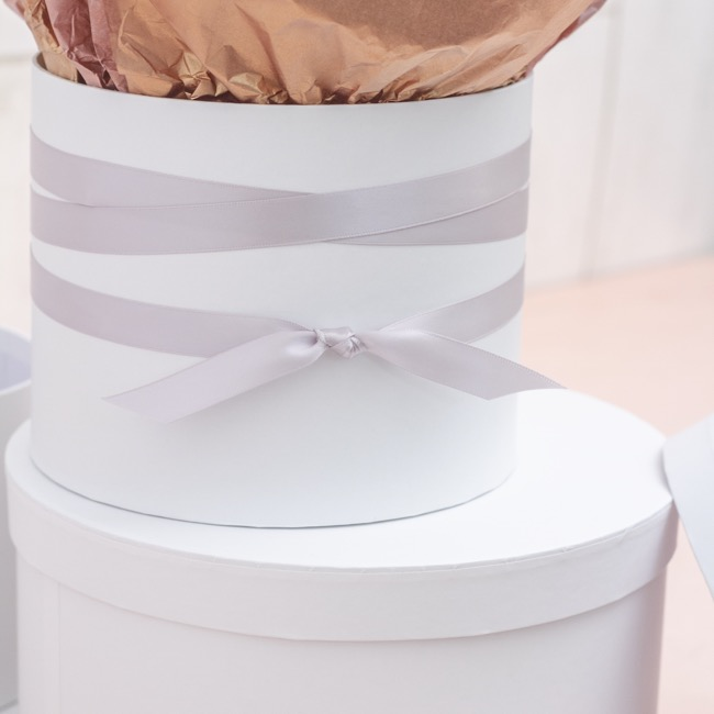 Satin Ribbons - Ribbon Satin Deluxe Double Faced Light Grey (15mmx25m)