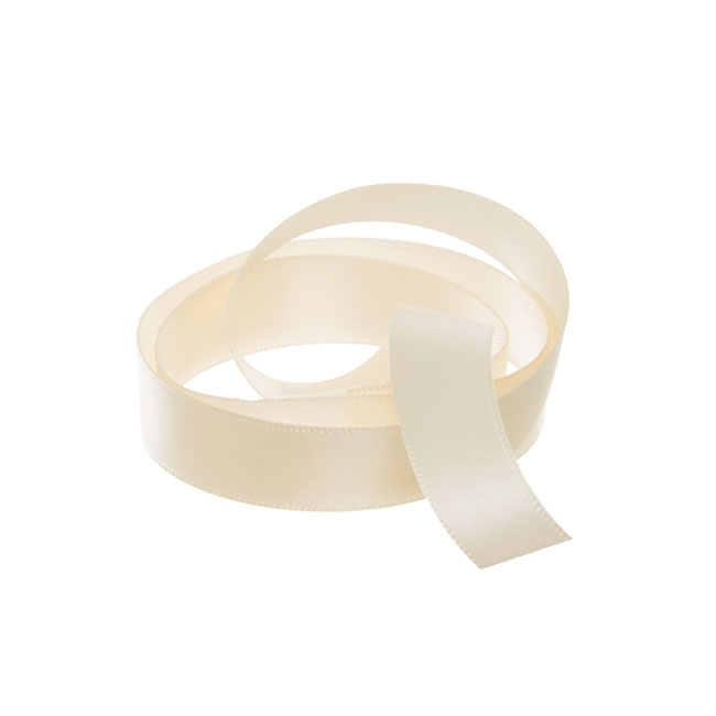 Ribbon Double Face Satin Natural (15mmx25m)