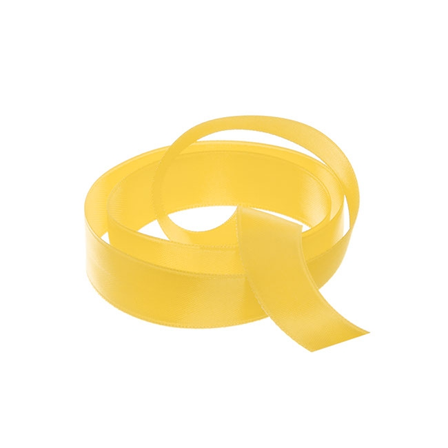 Ribbon Double Face Satin Yellow (15mmx25m)