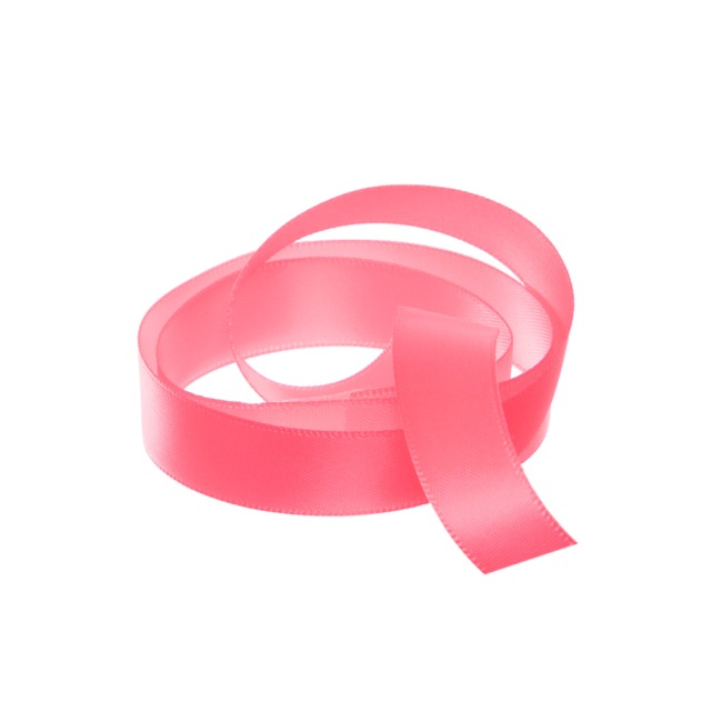 Satin Ribbons - Ribbon Satin Deluxe Double Faced Watermelon (15mmx25m)