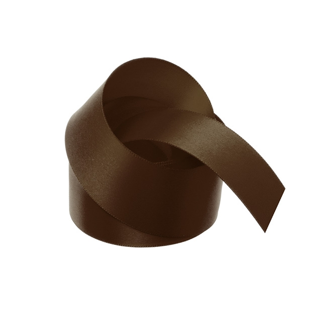 Satin Ribbons - Ribbon Satin Deluxe Double Faced Chocolate (38mmx25m)