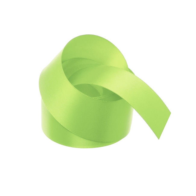 Ribbon Double Face Satin Lime (38mmx25m)