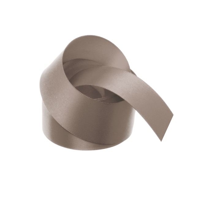 Satin Ribbons - Ribbon Satin Deluxe Double Faced Latte (38mmx25m)