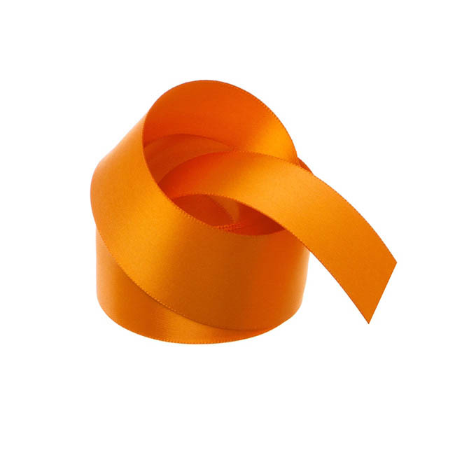 Satin Ribbons - Ribbon Satin Deluxe Double Faced Orange (38mmx25m)