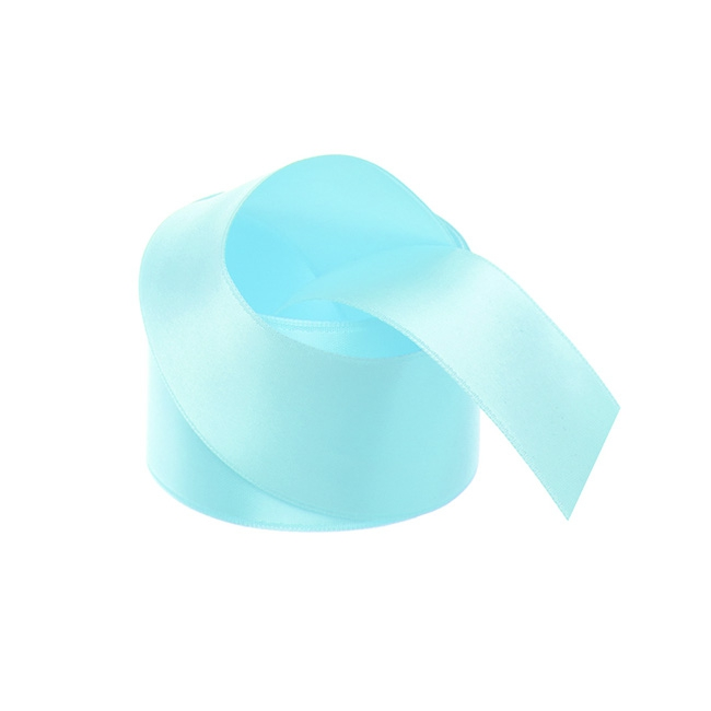 Satin Ribbons - Ribbon Satin Deluxe Double Faced Tiffany Blue (38mmx25m)