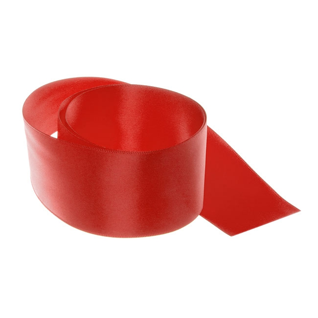 Ribbon Double Face Satin Red (50mmx25m)